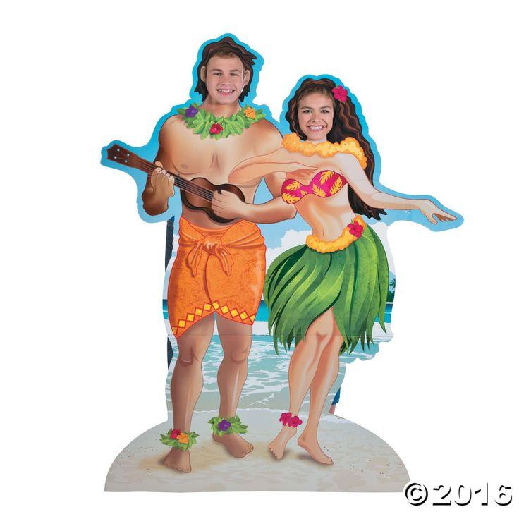 Hawaiian Couple Photo Stand-Up