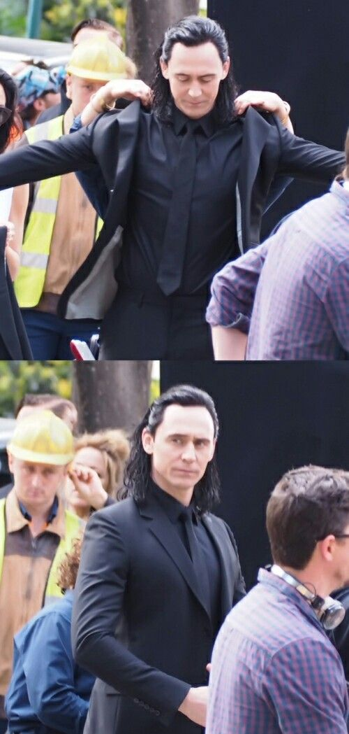 "It's getting harder and harder to tell the Boss and TH apart! (""Tom Hiddleston on the set of 'Thor: Ragnarok' in Brisbane, Australia...."" Yeah, sure. I guess....)"
