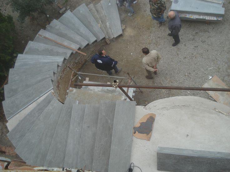 www.pulchria.it presentazione gradini in pietra arenaria scala destra