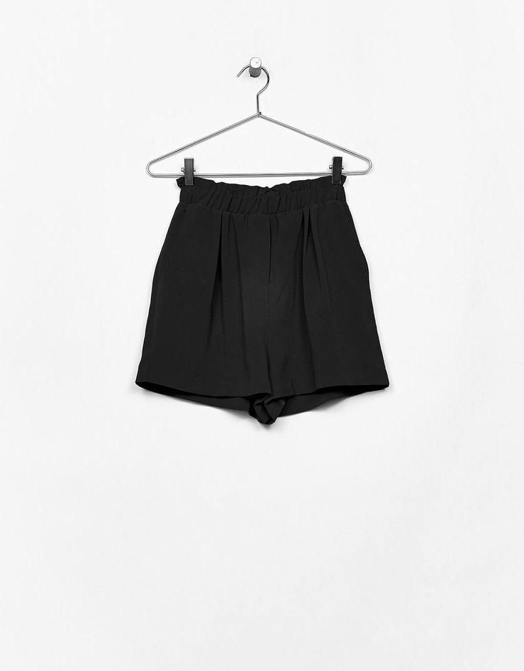 Elastic waistband shorts - Shorts - Bershka United States