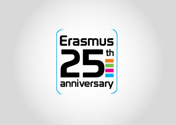 A logo made for the 25th anniversary of the Erasmus Programme  Published: December 17, 2011
