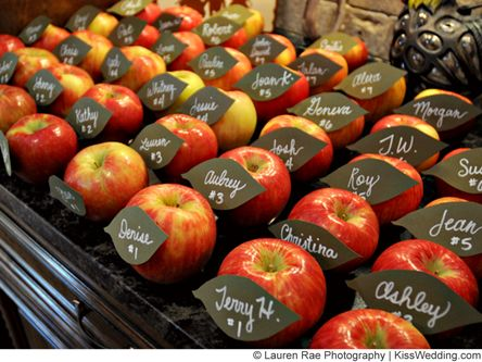 Simple but stunning - Apple Wedding Favors and Decor Ideas