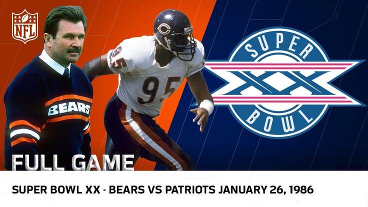 '85 Bears Win Super Bowl XX | Bears vs. Patriots | NFL Full Game