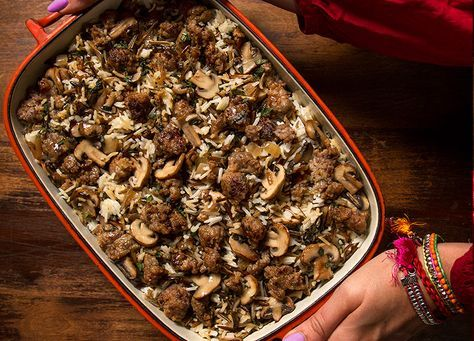 To make this Wild Rice, Sausage and Sage Stuffing completely irresistible, we added in some Johnsonville Original Bratwurst with its secret blend of spices. This recipe will get you counting down the days to Thanksgiving ­– this year and next!