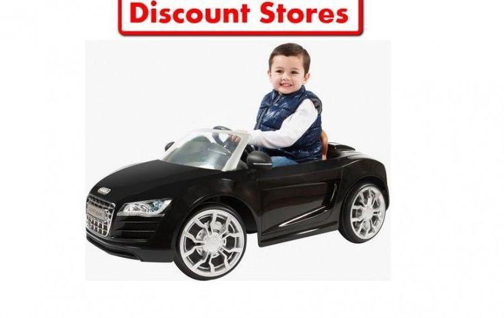 Electric Ride On Car For Kids 6V Black Audi R8 Spyder Children Outdoor Fun NEW #ElectricRideOnCarForKids