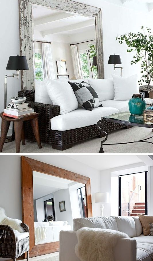 #6. Use large mirrors to create the illusion of a larger room! | 29 Sneaky Tips For Small Space Living