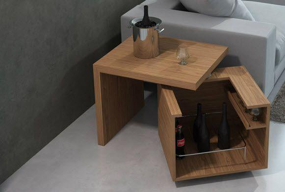 M s de 1000 ideas sobre centros de mesa bajos en pinterest for Bar madera moderno