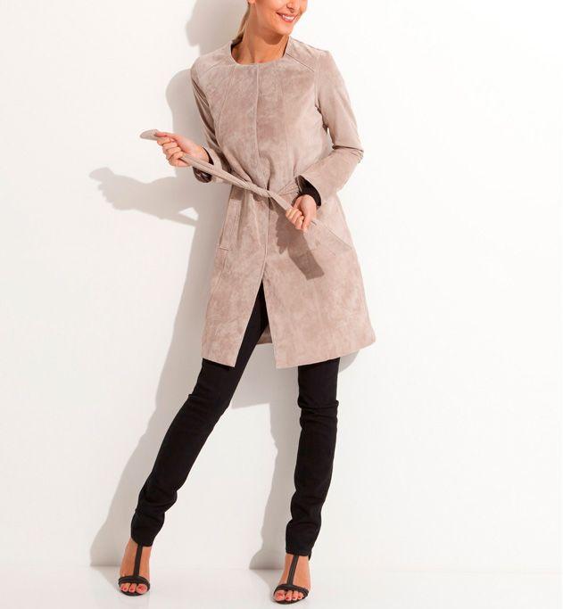Manteau cuir velours Grain de malice.   #leather #fashion #woman