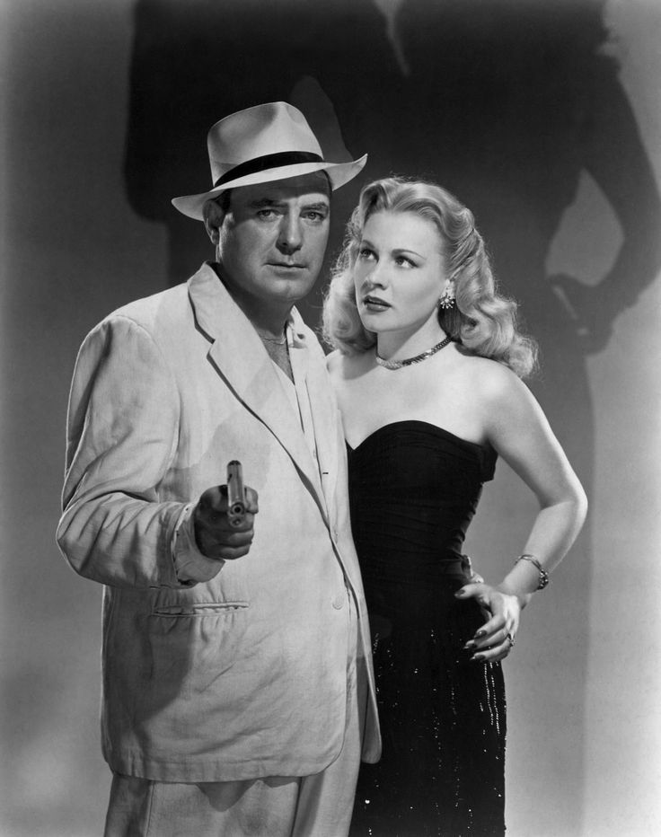 Pat O'Brien and Anne Jeffreys for Riff-Raff, 1947, directed by Ted Tetzlaff.