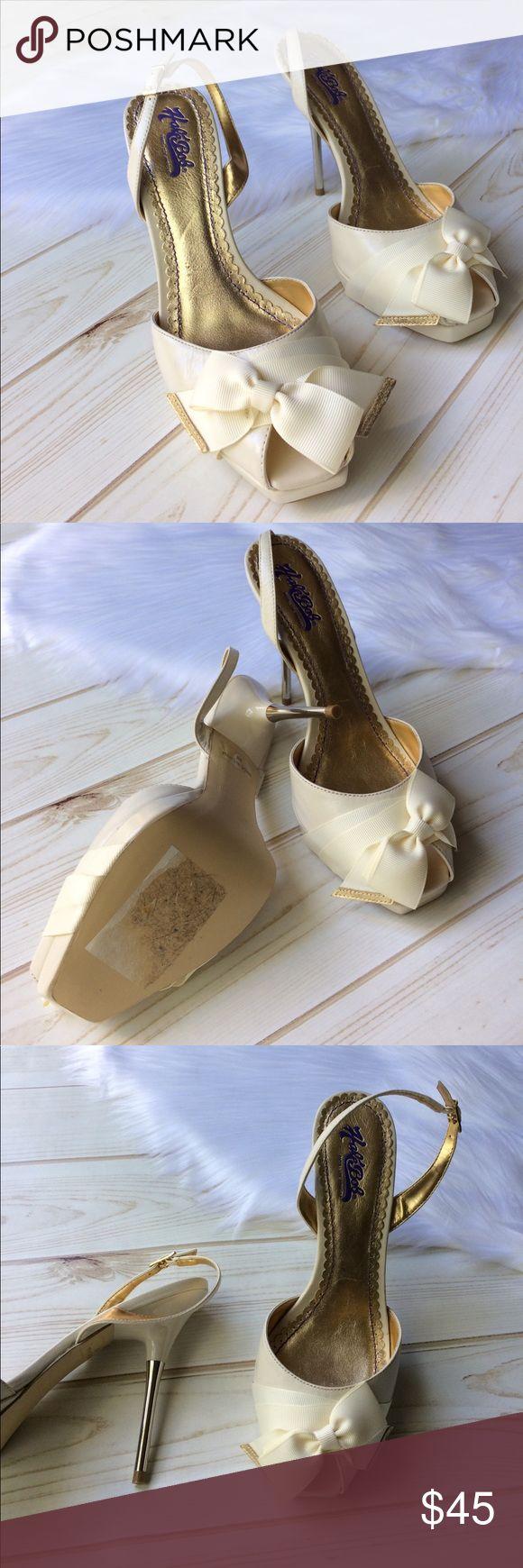 "Hale Bob Vero cuoio high heels Brand new. Never worn. Hale Bob sz 8. Ivory cream color. Beautiful & classy🙂 pumps high  heels, 5"" high. Vero Cuoio Hale Bob shoes high heels. Hale Bob Shoes Heels"