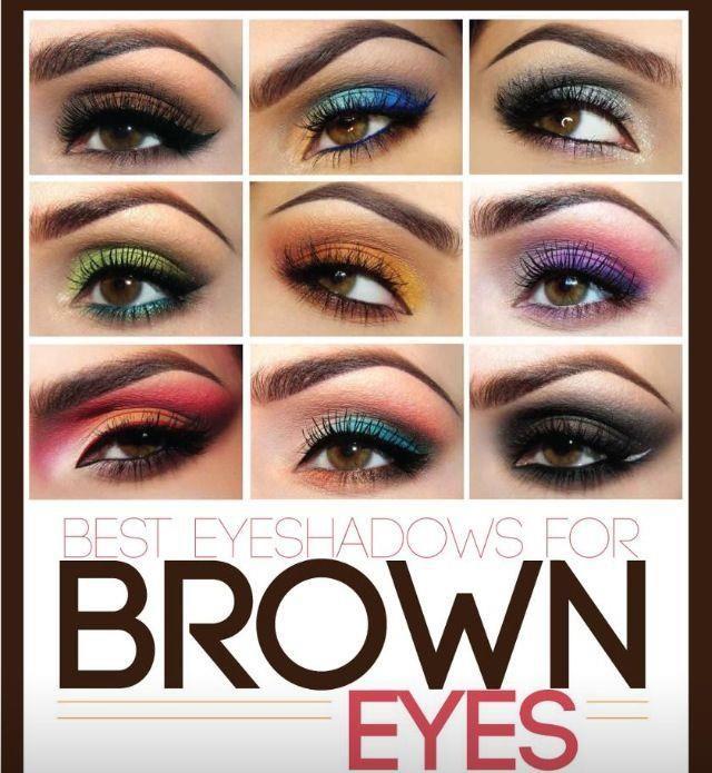 Sombras perfectas para ojos marrones. Encuentra más opciones en http://www.1001consejos.com/belleza/maquillaje/