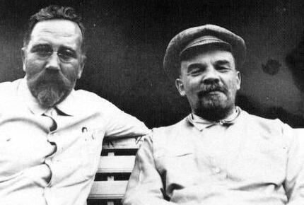 Lev Kamenev Gorki and Vladimir Ilyich Lenin