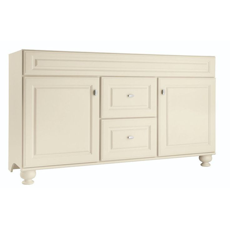Diamond Fresh Fit Britwell Cream Traditional Bathroom Vanity (Common: 60-in x 21-in; Actual: 60-in x 21-in)