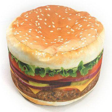 Hamburger Bean Bag Chair - totally loving these!