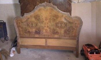 Cabecero antiguo renovado