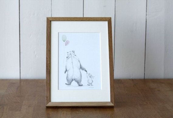 Big card with two friends the bear and the by AneIllustration