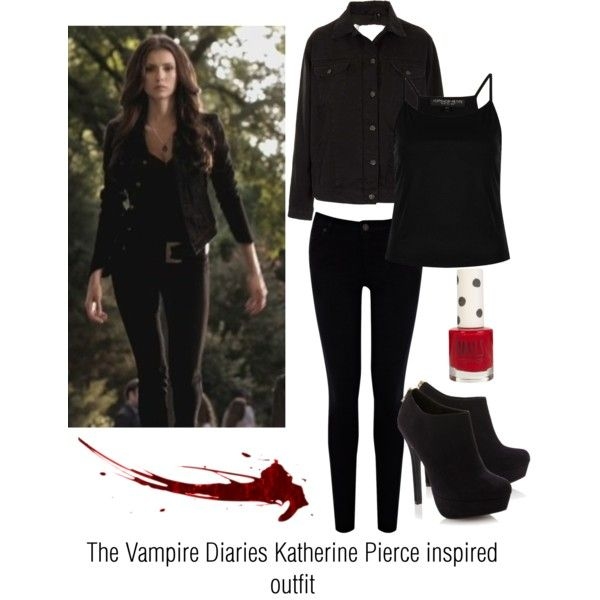 """The Vampire Diaries Katherine Pierce inspired outfit"" by paigeolivia4 on Polyvore"