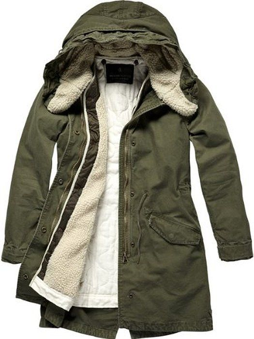Maison Scotch Damen Jacke, 12240910885 - parka w/wired hd&detachable lining, Gr. 40 (L / size 3), Grün (82 - army)