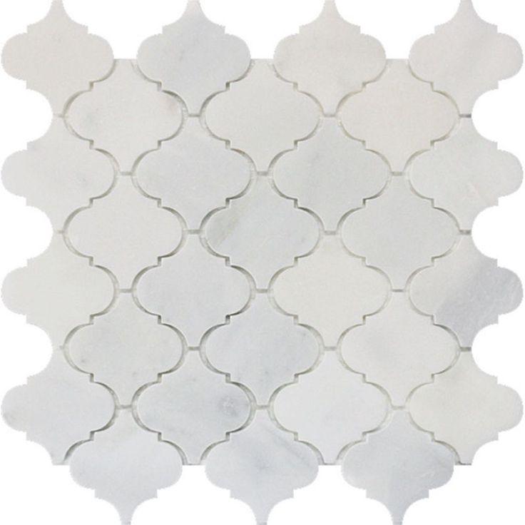Arabesque Carrara Marble Polished Mosaic - Pack of 5
