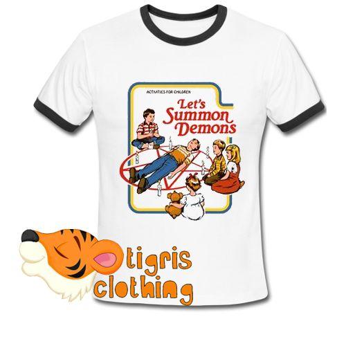Lets Summon Demons Ringer Shirt