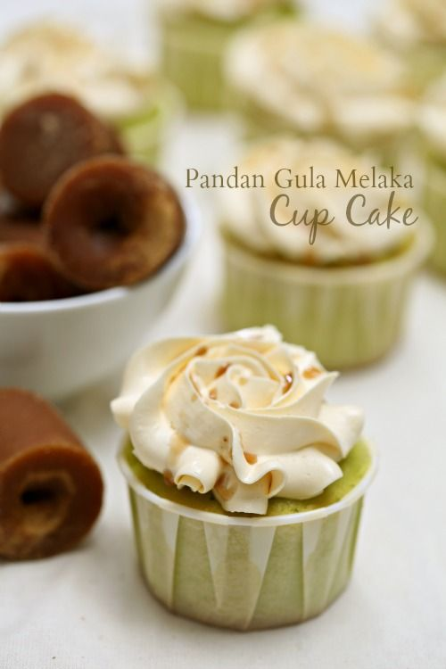 masam manis: Pandan Gula Melaka Cup Cake dengan Italian Frosting yang sedap!