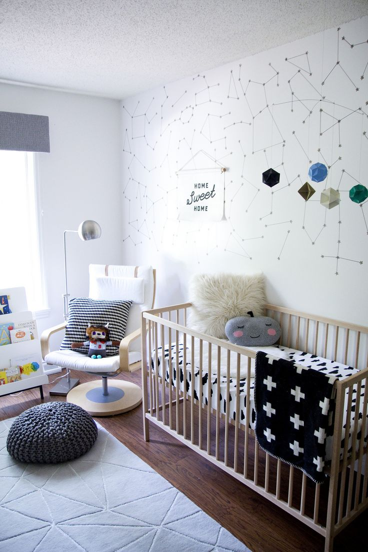 New Nursery Tour!!!! (via @jenloveskev) This room has everything I love: Bright, simple and something unique.