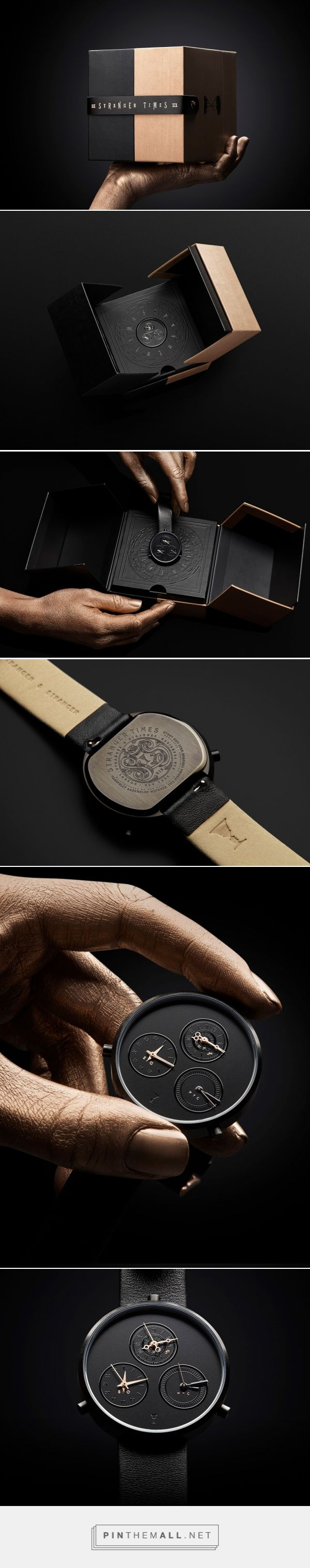 Stranger Times watch packaging design by Stranger & Stranger - http://www.packagingoftheworld.com/2018/01/stranger-times.html