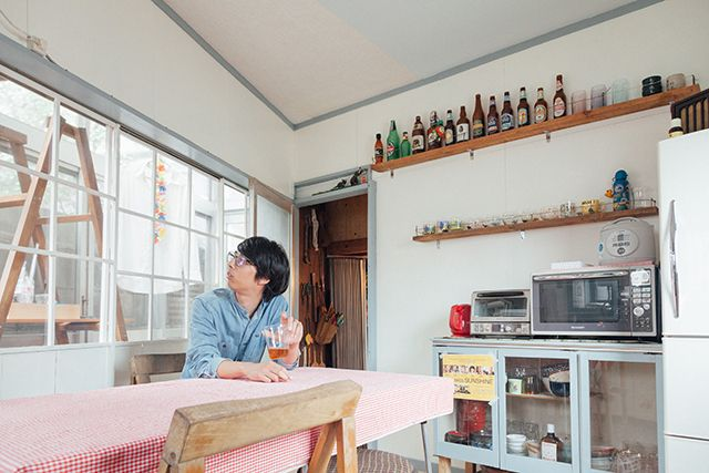 Suginami Ward, retro kitchen of self-renovation, such as a secret base in the art to take over the memories _2