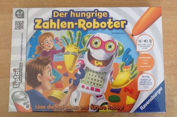 Ravensburger 00706 - Tiptoi Spiel Der hungrige Zahlen-Roboter  - NEU+OVP in Spielzeug, Lernspielzeug, Lernspiele | eBay!