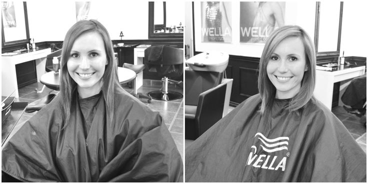 before: long layers. after: blunt, graduated long bob. more pics on the site! #modernmombeauty #hair #moms