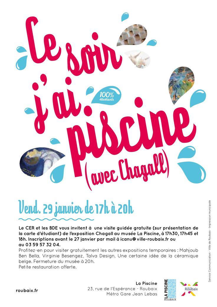 Ce soir j'ai piscine (avec Chagall) ©Amandine Derachinois - Ville de Roubaix