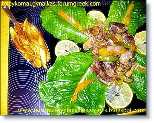 Drunk pan-fried pork (Choirini tigania) | deliciousrecipesofgogo