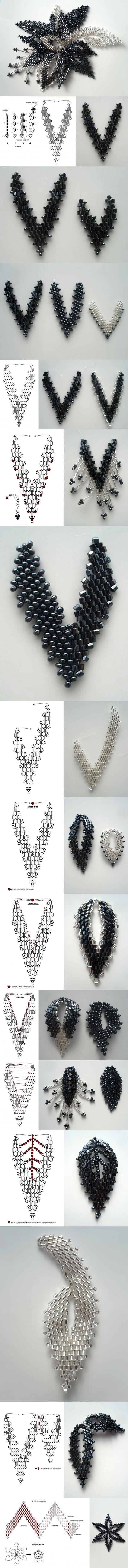 Bead flower pendant.