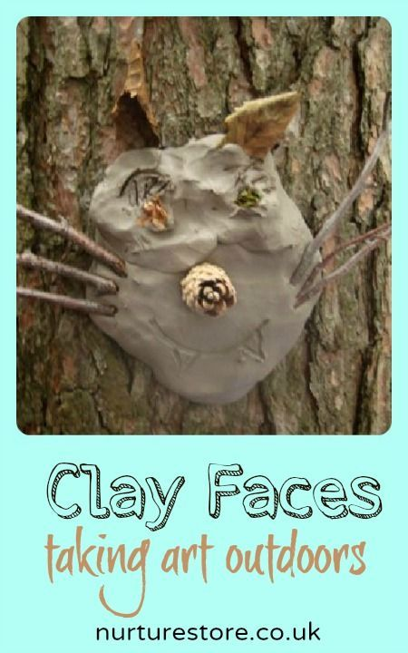{natural clay tree sculptures} What a great way to make a nature collection into a piece of art.