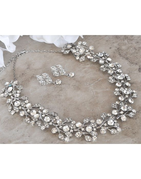 Ashlee- Crystal Choker Necklace and Earring Set