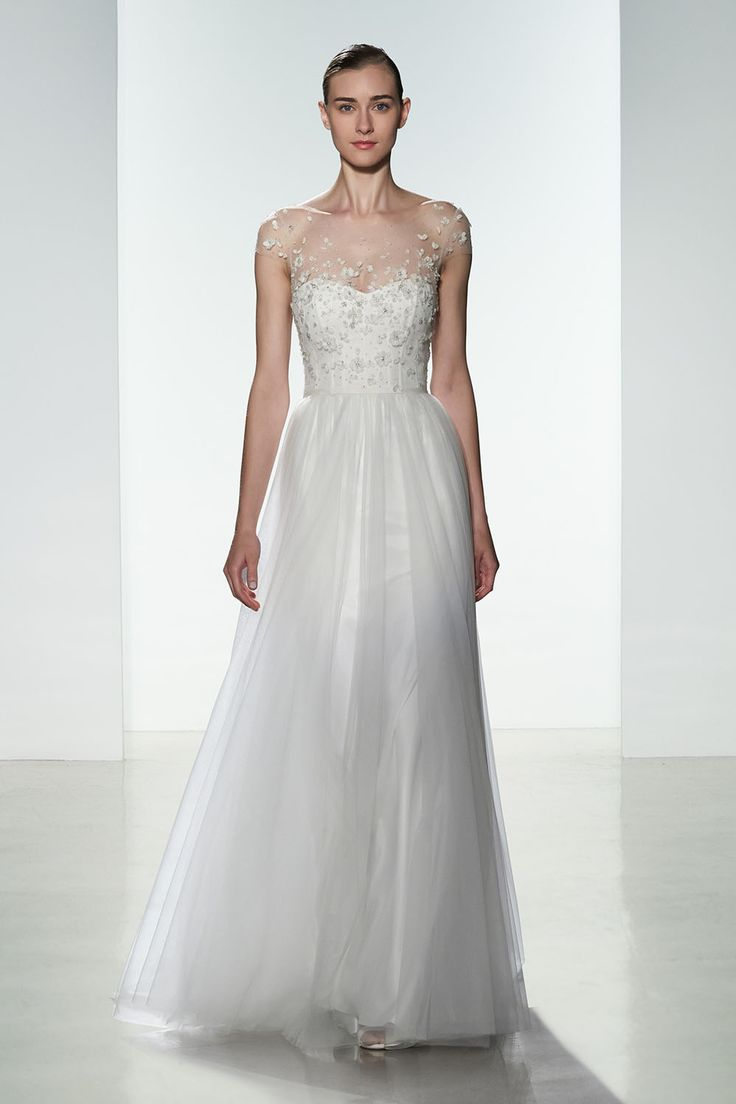Airy Wedding Dresses And Feminine Bridal Gowns In Lace Point Desprit Tulle For Weddings