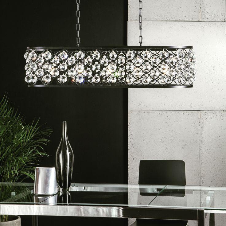 styl glamour w eleganckim wydaniu - lampa wisząca z kryształami #lampa #krysztal #artwork #interiordesignideas  #design #homedecor #style  #glamour #obipolska #obibowarto