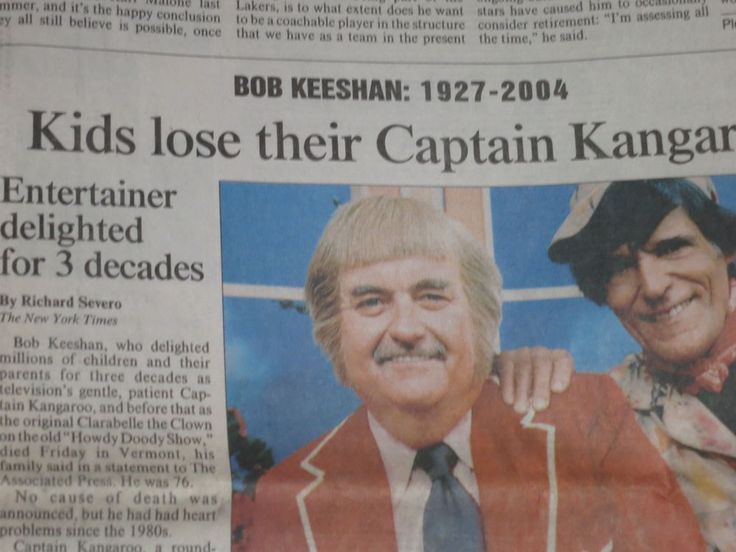 BOB KEESHAN  'CAPTAIN KANGAROO'  DEAD AT 74/ 1927- 2004/ PHIL: IT'S SHAQ'S TEAM