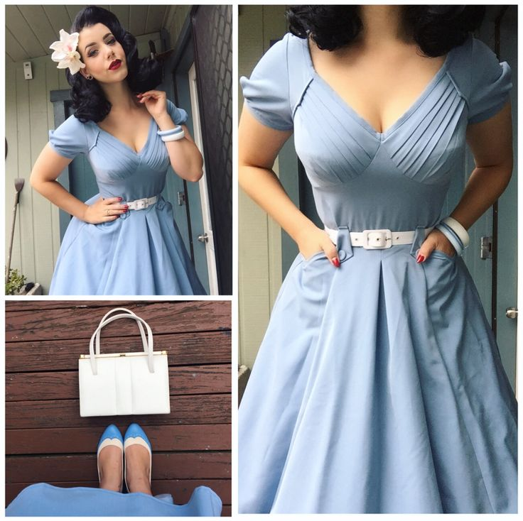 Miss Victory Violet in powder blue