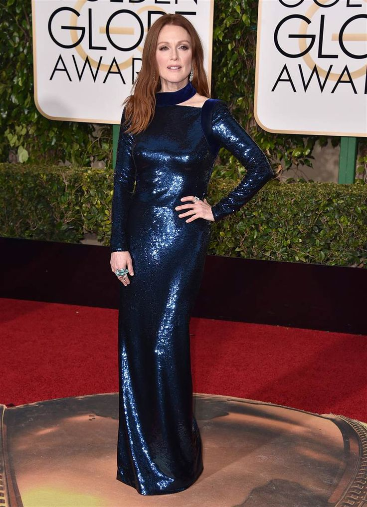 Julianne Moore at the 2016 Golden Globes