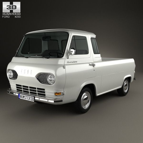 Ford E-Series Econoline Pickup 1963 3d model from Humster3D.com