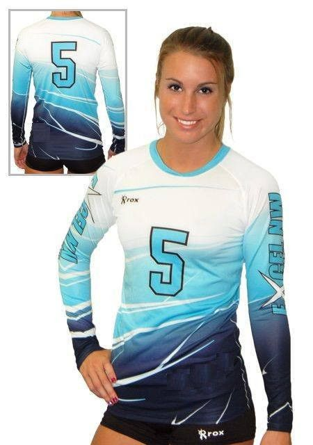Shaded (3 Color) Sublimated Jersey – Rox Volleyball