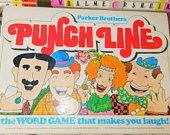 Punch Line Parker Brothers Game 1978, Vintage Board Game, Parker Brothers Game, Made in the USA,