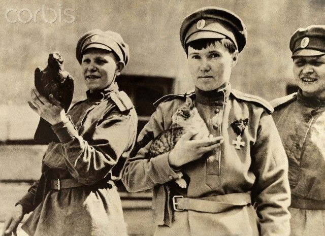 Members of the Russian Women's Battalion of Death, World War One. Source: Corbis.