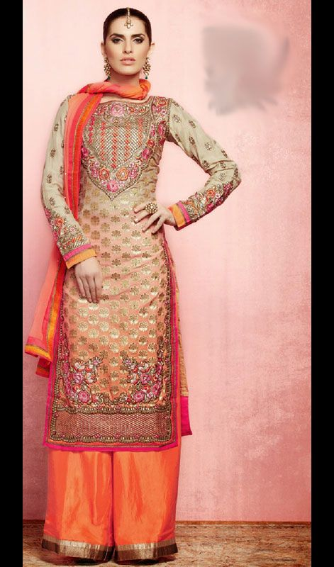 11 best party wear sharara churidar suit collection for Indian wedding dresses usa