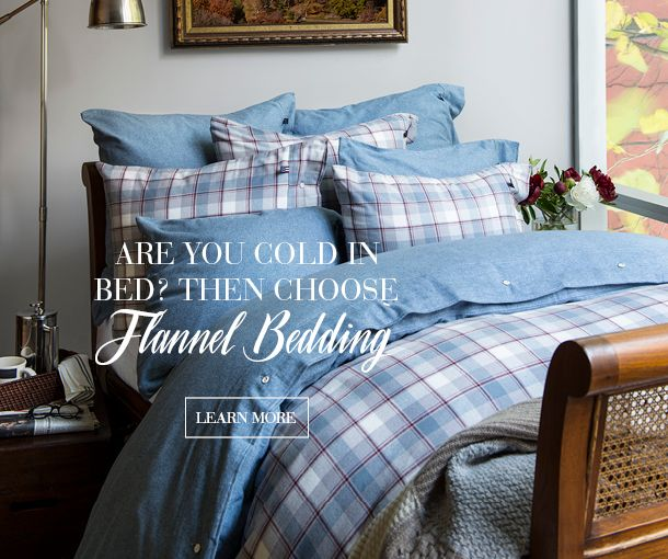 Are you often cold at night? With cozy flannel it's easy to stay warm in the bedroom. Our new fall collection features two flannel bed sets: the classic check pattern, and the blue herringbone (and they're perfect to mix and match). And of course our Icons flannel bedding in a solid gray melange and twill structure weave.