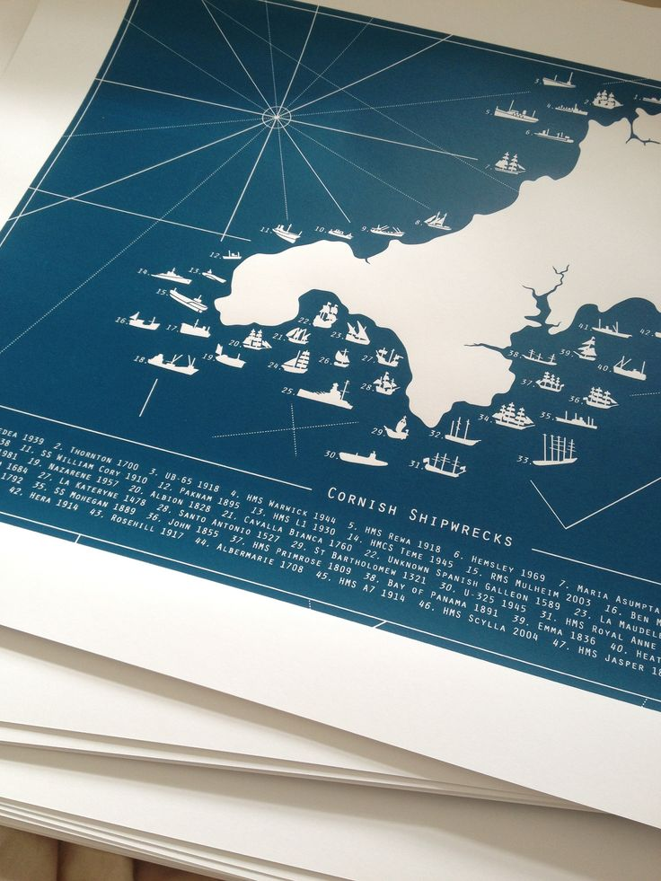 Cornish shipwrecks print in Atlantic blue. Wave-pummeled, storm savaged and left to crumble on the briny sea floor. Creaking tall ships and iron-clad wrecks, lured by sirens to their perilous end… Let our Cornish Shipwreck print weave a salty yarn or two from your wall.