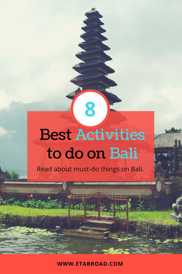 The list of best 8 Activities you shouldn't miss on Bali | #Bali #Indonesia #Asia #Travel #baliisland #balitravelguide #travelguide #seasia #seasiatravel #BaliTravel