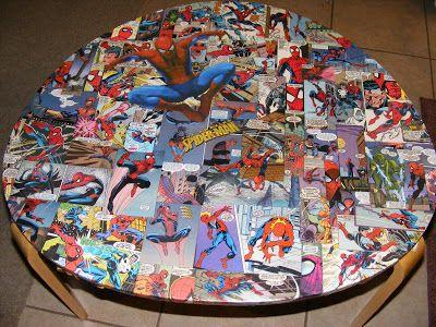 Decoupage with Comic Books