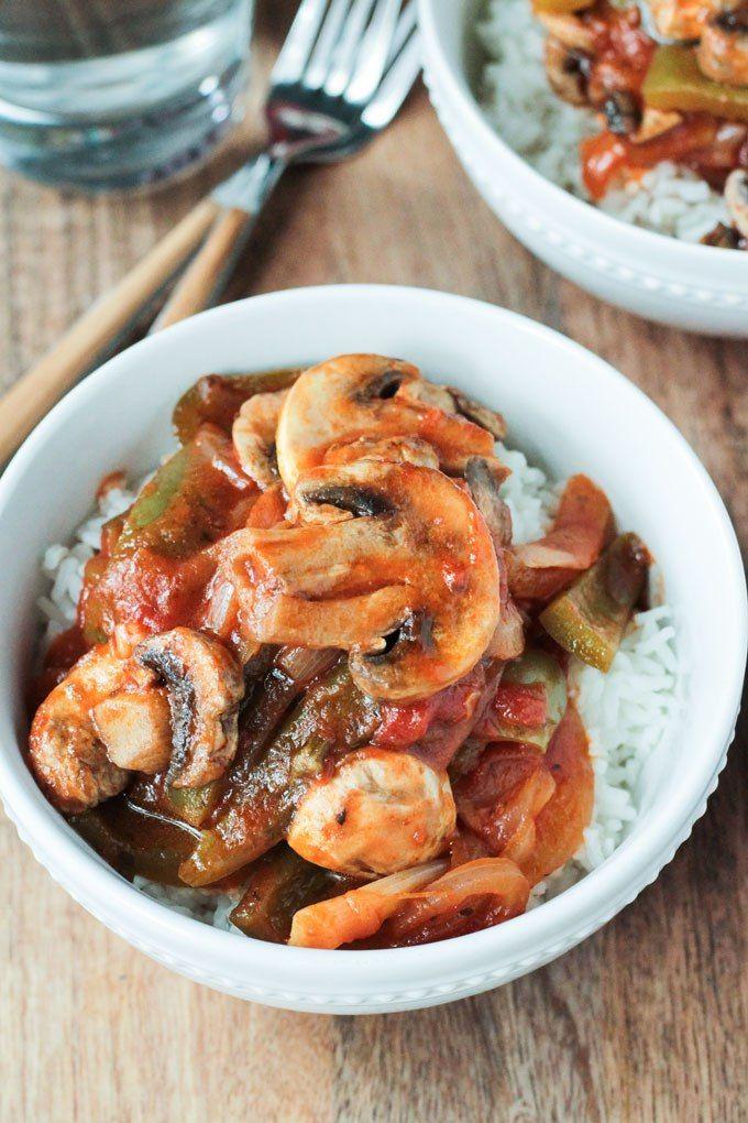 Vegan Mushroom Pepper Steak ~ Veggie Inspired